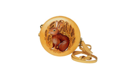Rabbit leather Hatbox