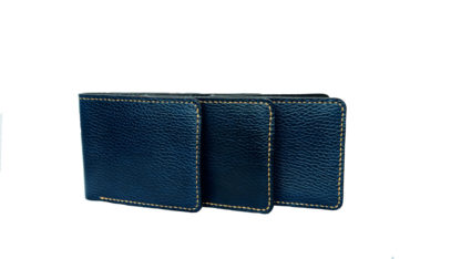 Dark blue leather wallet