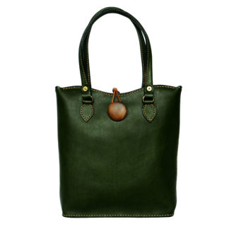 Green Olive Leather Handbag