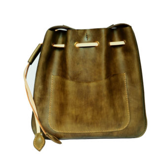 Green Olive Hobo Leather Bag