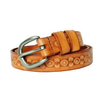 Vintage Carved Belt (Honey)