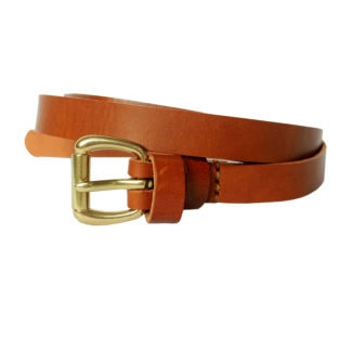 Skinny Leather Belt (Caramel)