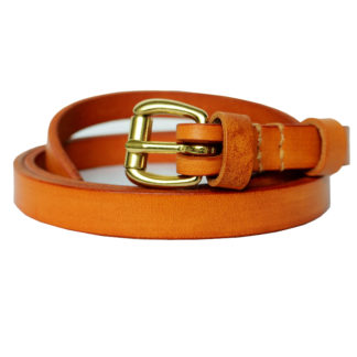 Skinny Leather Belt (Honey)